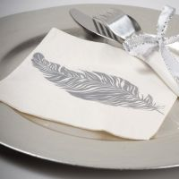 Serviette de table plume X20