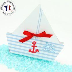 Boîte dragée carton Bateau X10