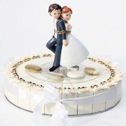 Figurine gâteau - Couple Mariés enchainé pour la vie!