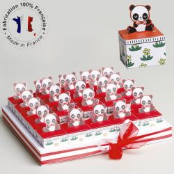 Kit plateaux boîte dragée Panda 25 parts