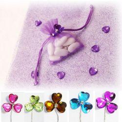 Fleur Coeur Cristal x6