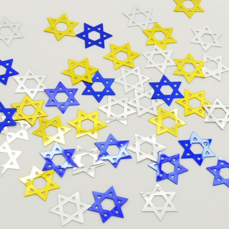 "Confettis de table "" étoiles de David """