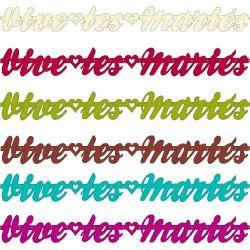 """Guirlande design """"Vive les mariés"""""""