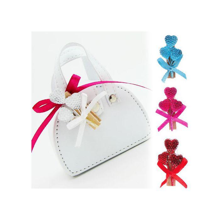 pince d corative coeur cristal x10 accessoires drag es mariage fleurs de drag es. Black Bedroom Furniture Sets. Home Design Ideas