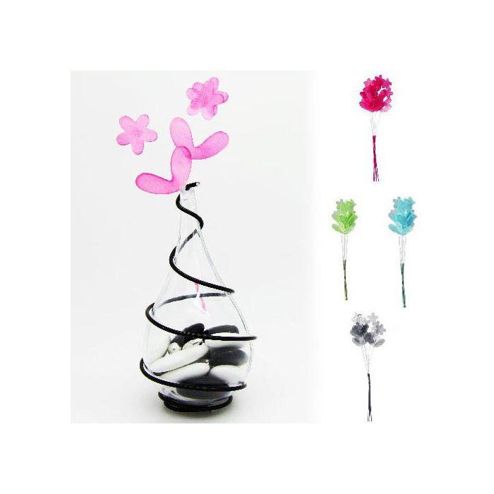 D co fleurs tissu en brins x6 accessoires drag es fleurs for Deco accessoires