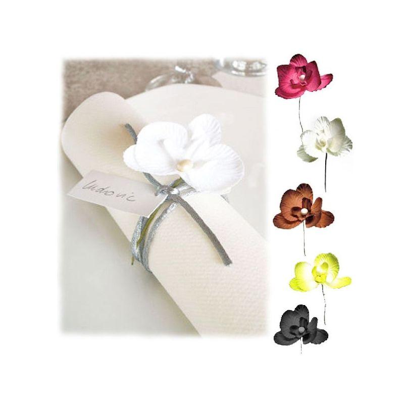 orchid e d co sur tige x 10 mini fleurs accessoires. Black Bedroom Furniture Sets. Home Design Ideas
