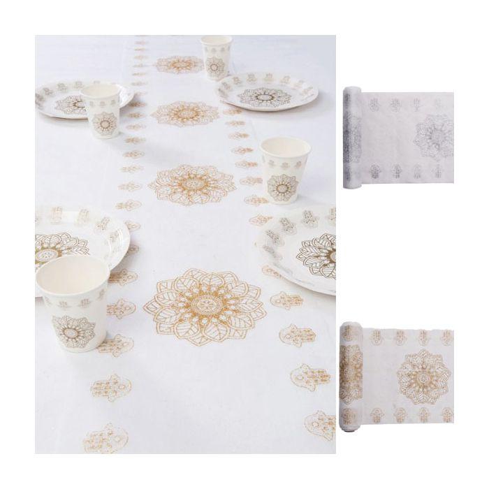 chemin de table oriental d corations de table fleurs de drag es. Black Bedroom Furniture Sets. Home Design Ideas