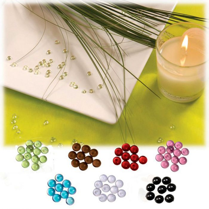 perles de pluie translucide d corations de table. Black Bedroom Furniture Sets. Home Design Ideas