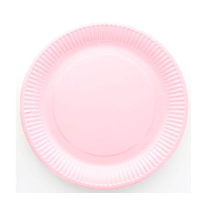 assiette jetable 23cm ronde rose lot de 10 vaisselle jetable. Black Bedroom Furniture Sets. Home Design Ideas