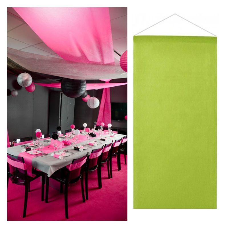 Tenture salle mariage pas cher 12mètre - Vert anis