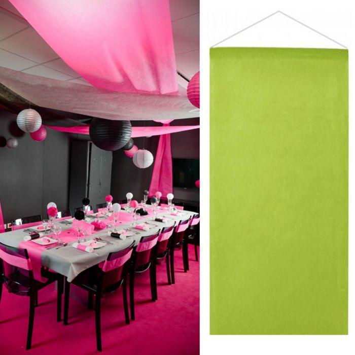 Tenture salle mariage pas cher 12m tre vert anis d co - Decoration salle mariage pas cher ...