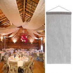 Tenture salle mariage pas cher (12mètre) - Argent