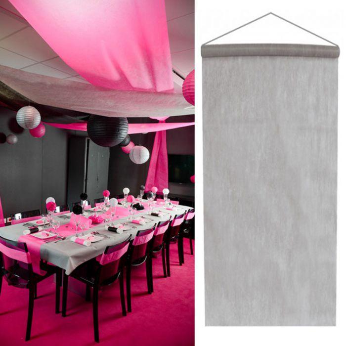 tenture salle mariage pas cher 12m tre argent. Black Bedroom Furniture Sets. Home Design Ideas