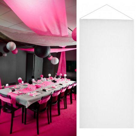 Tenture salle mariage pas cher (12mètre) - Banc
