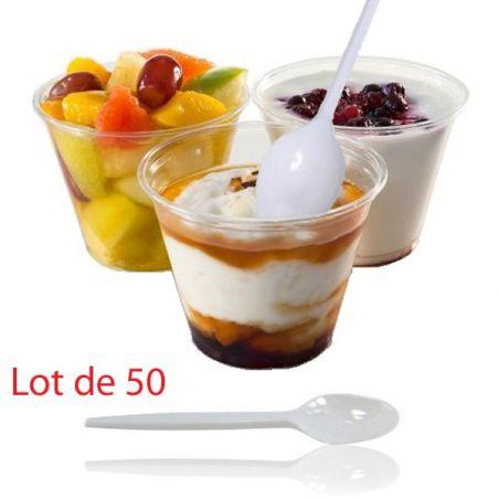 Cuillère à dessert en plastique (les 50)