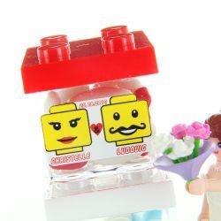 Etiquette dragées mariage sticker - LEGO