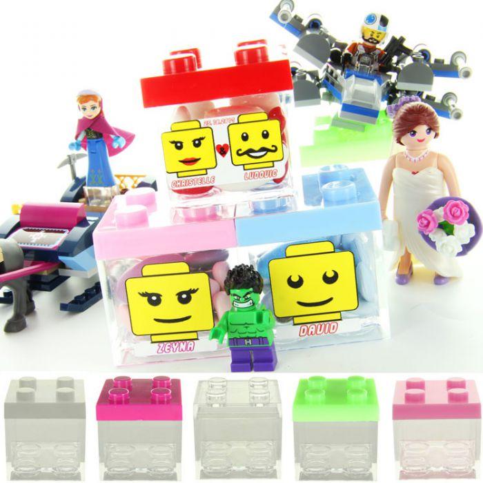 Contenant Dragees Plexi Lego