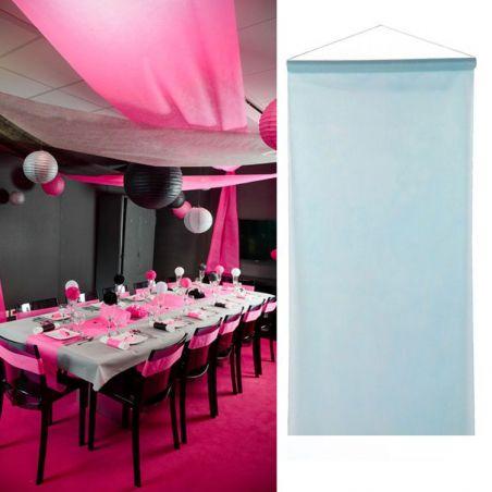 Tenture salle mariage pas cher (12mètre) - Bleu
