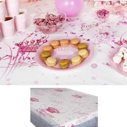Nappe jetable plastique table enfant - Princesse