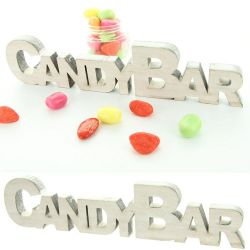 Centre de table CANDY BAR - Bois veilli