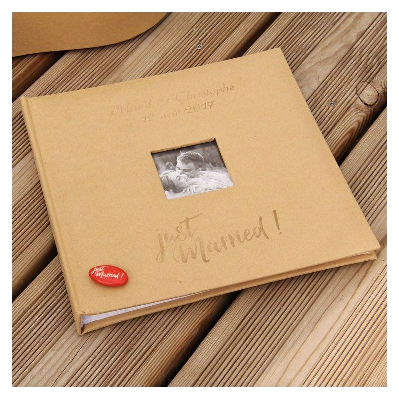 Livre d'or / Album photo personnalisé Kraft