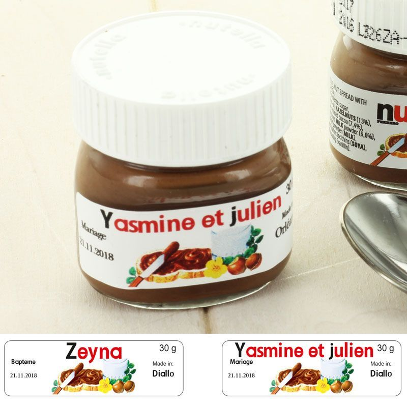 Étiquette Mini pot de NUTELLA