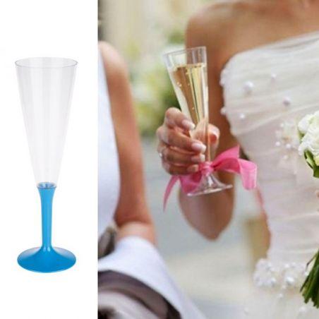 Flûte champagne plastique 13cl (20psc) - Bleu