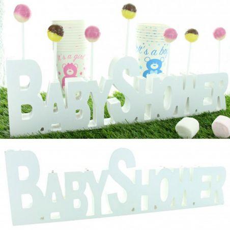 Bar à bonbon - Déco Baby shower en bois