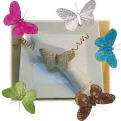 Papillons scintillants X6