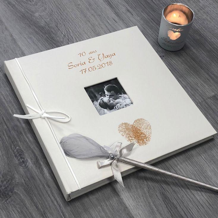 Livre D Or Mariage Personnalise Album Photo Cœur Empreintes