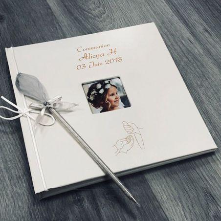 Livre d'or Personnalisé communion / Album photo - Hostie