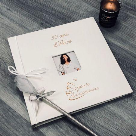 Livre d'or Anniversaire / Album photo - Personnalisé