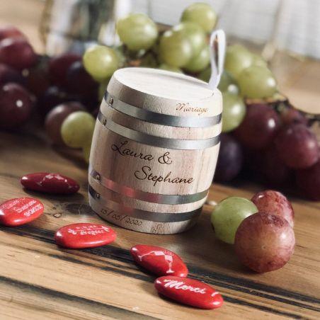 Tonneau de vin Boite dragées Personnalisée