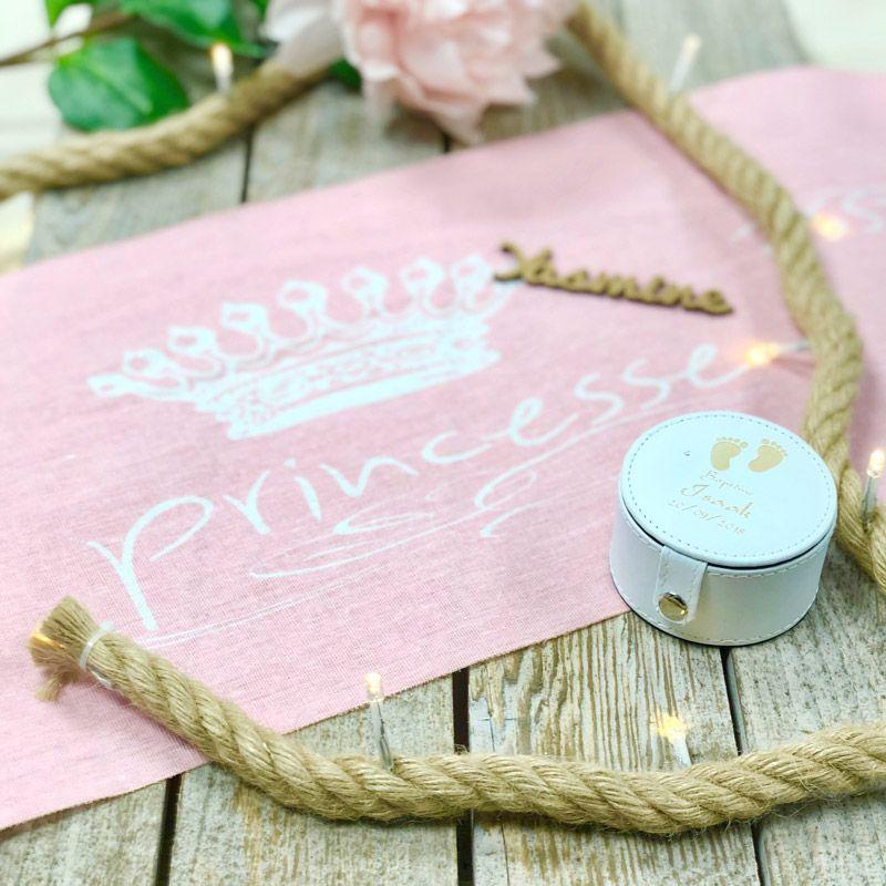 Chemin de table anniversaire Princesse - Coton