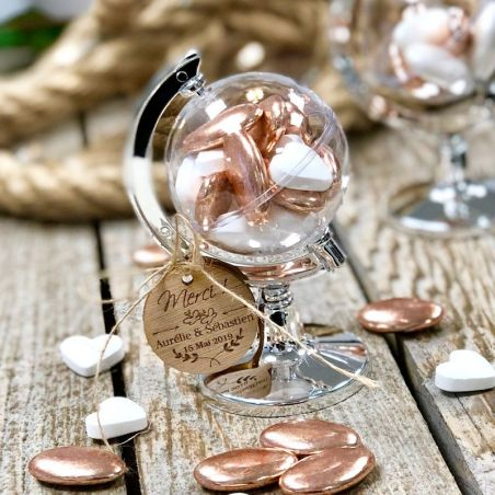 Boite dragées Globe Terrestre (lot de 6)