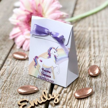 Boîte dragée carton licorne (lot de 10)