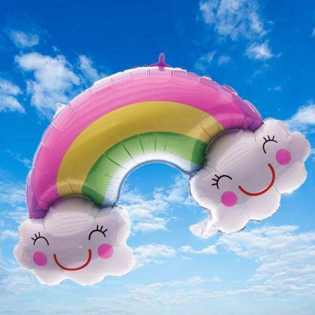 Ballon hélium anniversaire Arc en ciel
