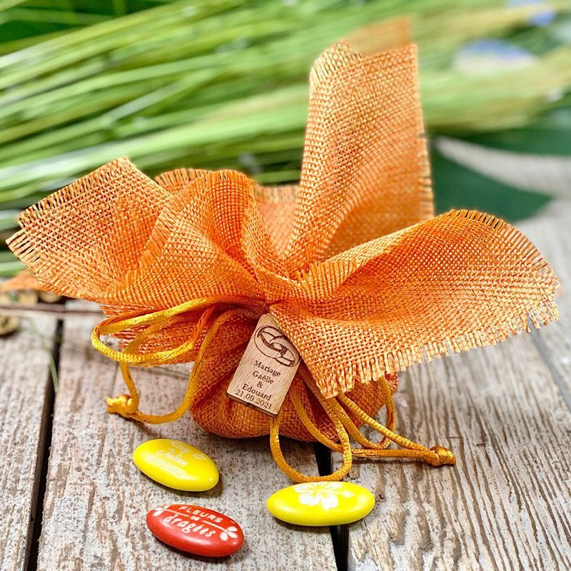 Tulle de Jute rapide Orange (12pcs)