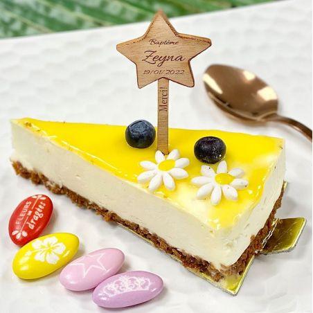 Étiquette Pic gâteau personnalisé - Etoile
