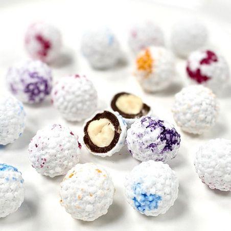 Dragées noisettes enrobées chocolat en Flocon