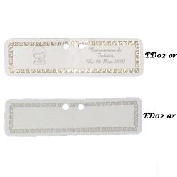 Etiquettes à dragées rectangulaire X18 ED02