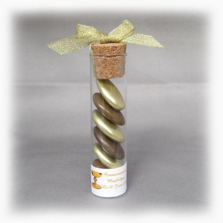 Dragées communion - Tube Eprouvette à dragées